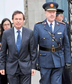 Alan Shatter with former garda chief Martin Callinan. Photo: Laura Hutton/RollingNews.ie