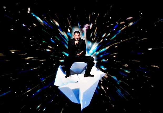 Russia's Sergey Lazarev performs the song 'You Are The Only One' during the Eurovision Song Contest final. Photo: AP