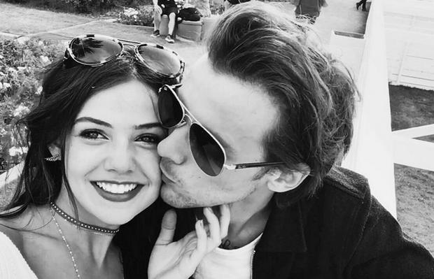 Danielle Campbell and Louis Tomlinson. Picture: Instagram