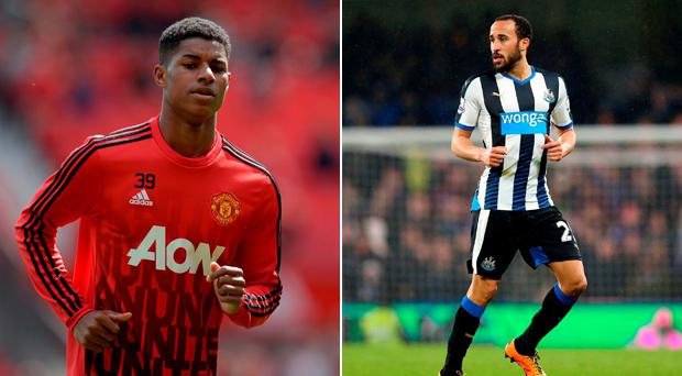 Marcus Rashford and Andros Townsend have been named in England's 23-man squad