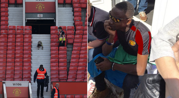 Moses was left devastated after the bomb scare scuppered his dreams of watching Manchester United