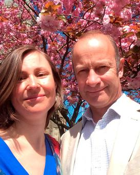 Undated handout photo issued by Henry Bolton, former Ukip candidate for Police and Crime Commissioner in Kent (right), with his wife Tatiana Smurova-Bolton, 41, who gave birth to their baby daughter on the 3.43pm Southeastern service from Ashford International to St Pancras International on Sunday afternoon when she went into labour