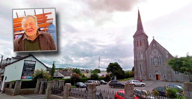 St Patrick's Church, Ballyhaunis and Inset Martin 'Red Breast' McDonagh