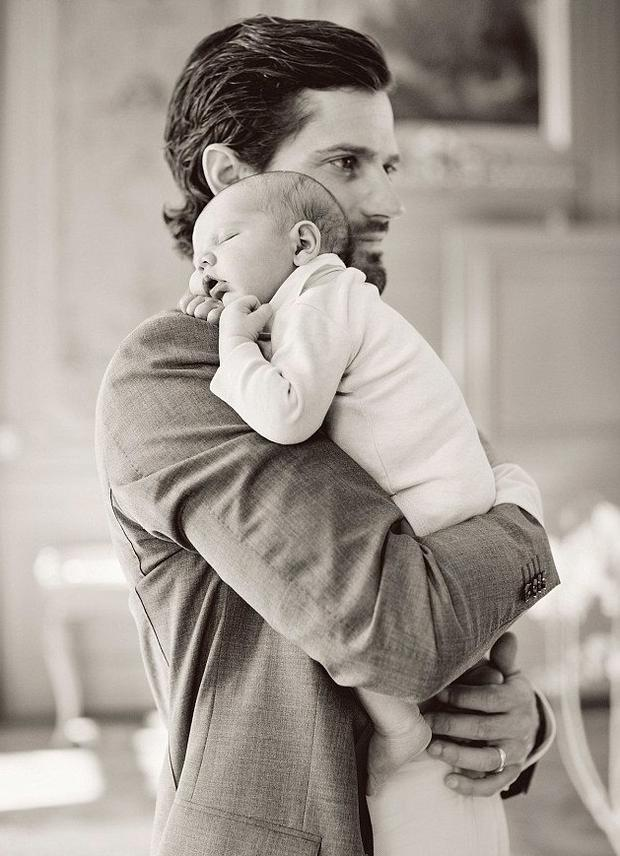 Prince Carl Philip with son Prince Alexander Erik. Picture: Erika Gerdemar/Swedish Royal Family