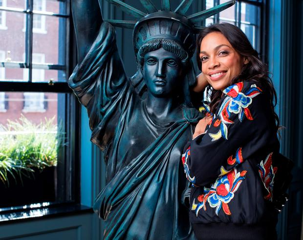 Actress Rosario Dawson meeting the four Budweiser Dream Big competition finalists at The Dean Hotel. Picture: Anthony Woods