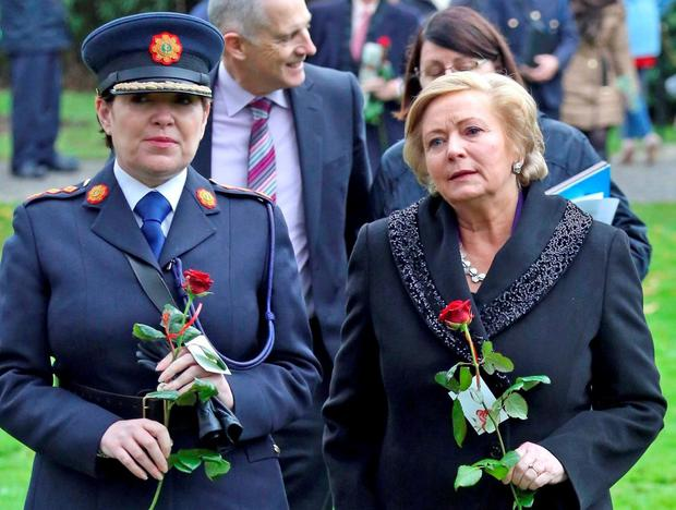 Garda Commissioner Nóirín O'Sullivan and Justice Minister Frances Fitzgerald. Photo: Colin Keegan/Collins