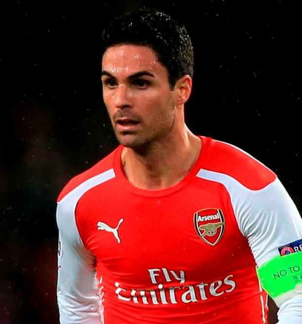 Mikel Arteta has ended his playing career at Arsenal Photo: Nick Potts/PA Wire