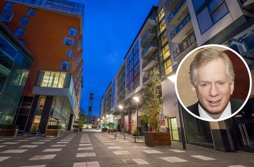 Tallaght Cross West is one of the rental complexes owned by IRES Reit. Inset: CEO David Ehrlich