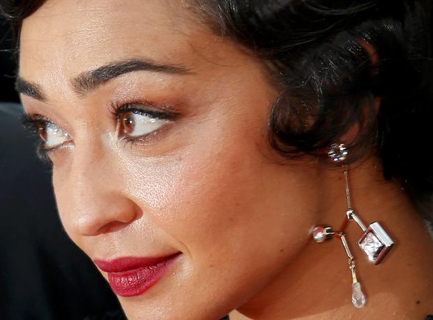 Cast member Ruth Negga poses on the red carpet as she arrives for the screening of film