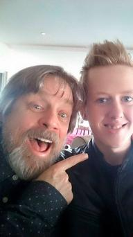 Jamie meets Luke Skywalker (Mark Hamill) in Donegal.
