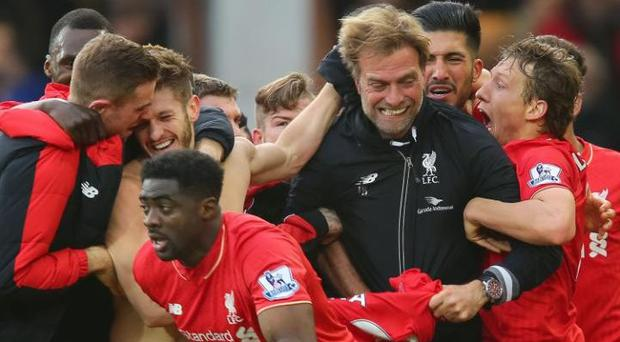 Jurgen Klopp's bond with his players is there for all to see
