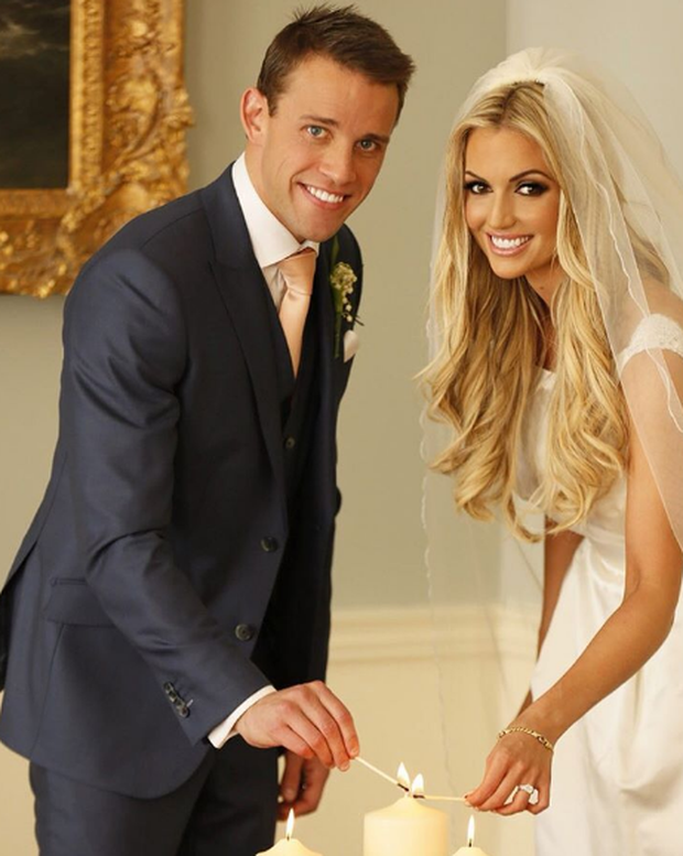 Rosanna Davison and Wes Quirke on their wedding day. Photo: Instagram