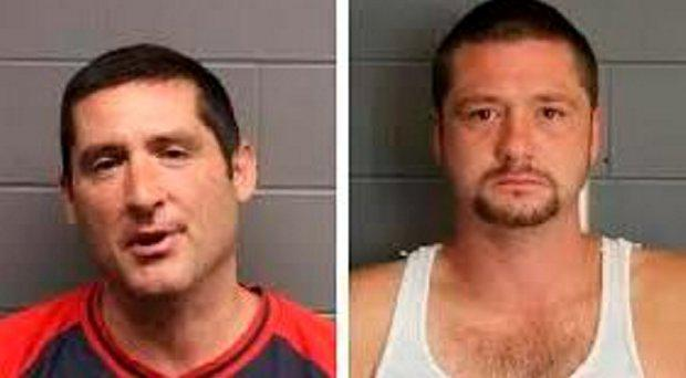 Scott Leader (lt) and Steve Leader had previously pleaded guilty to causing bodily injury while committing a civil rights violation Credit: Suffolk County District Office