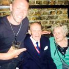 DJ Jacob Husley with the elderly clubbers. PIC: Jason Husley Facebook