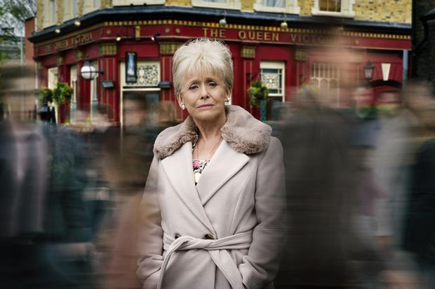 Dame Barbara Windsor as Peggy Mitchell on Eastenders