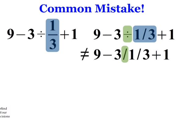 A common mistake!