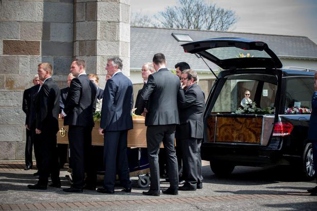 Mourners pictured at the funeral of Christy O'Connor Snr (Photo: Mark Condren)