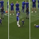 Eden Hazard ruthlessly demoralised his infant son in front of the Stamford Bridge fans