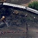 The train was reportedly traveling more than double the suggested speed when it hit a curve