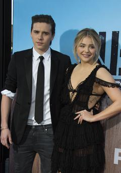 Actress Chloe Grace Moretz (R) and Brooklyn Beckham. Picture: AFP / Valerie Macon