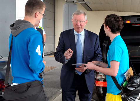 Sir Alex Ferguson prior to A Night with Rory McIllroy at the Dublin Convention Centre. PHOTOS- JOHN DARDIS