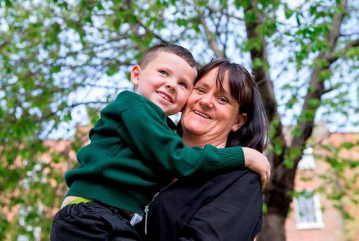 Marian Dennis and her son Jamie McClure Dennis took part in the Preparing for Life initiative. Photo: Conor Healy