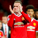 Manchester United's Wayne Rooney applauds fans during a lap of honour after the game Action Images via Reuters / Carl Recine