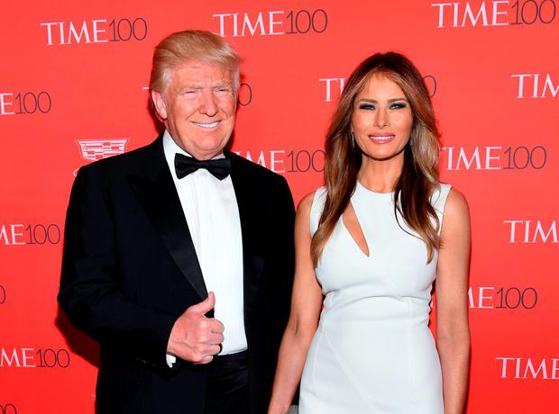 Republican US presidential candidate Donald Trump and his wife Melania. The special relationship between Ireland and the US is becoming more and more significant, and a Trump presidency would not change this. Photo: Evan Agostini/Invision/AP
