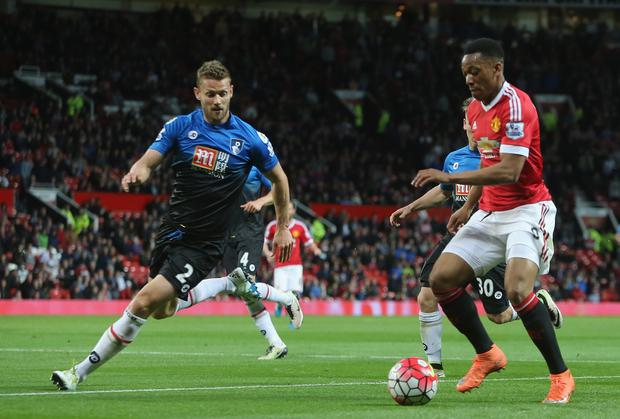 Anthony Martial in action with Simon Francis (Getty Images)