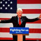 Bill Clinton speaks at Passaic County College in Paterson, NJ. Photo: AP