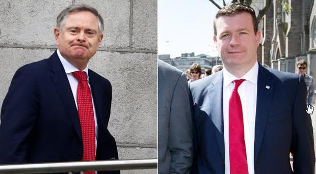 Frontrunners: Brendan Howlin (left) and Alan Kelly