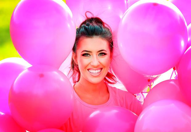 Lottie Ryan gets in line for the Great Pink Run 2016 with Avonmore Slimline Milk. Picture: Robbie Reynolds