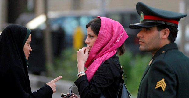 Iranian police enforce the country's strict dress code Getty Images
