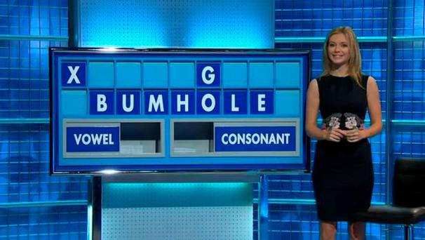 Rachel Riley spells out BUMHOLE on Countdown