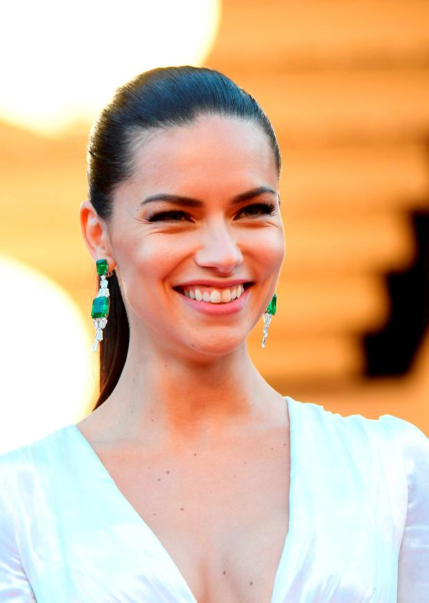 Brazilian model Adriana Lima smiles as she arrives on May 17, 2016 for the screening of the film