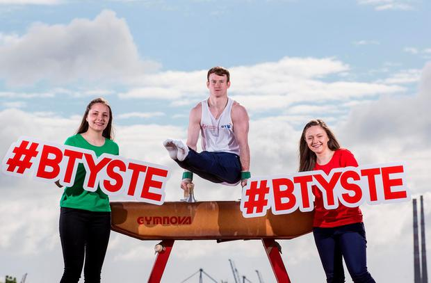 Irish Gymnast Kieran Behan at the press launch for the BT Young Scientist & Technology Exhibition 2017. Photo: INPHO/Dan Sheridan