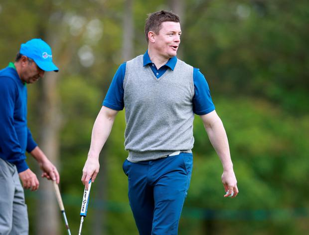 Brian O Driscoll pictured during the Pro Am at the Dubai Duty Free Irish Open hosted by The Rory Foundation at the K Club. Photo: Frank Mc Grath