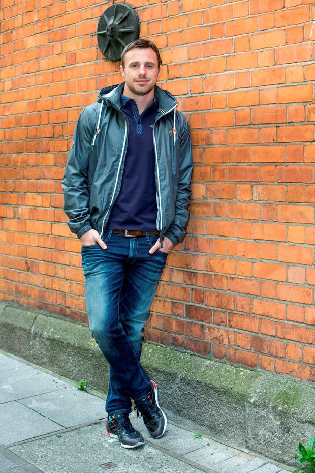 Tommy Bowe wearing his new Spring/Summer XV Kings clothing collection. Picture: Kyran O'Brien