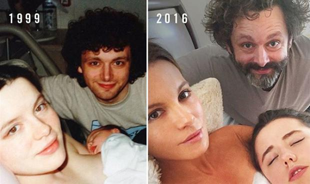 Kate Beckinsale recreated her daughter's birth photo on Instagram