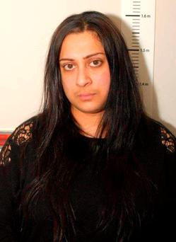 Zafreen Khadam, 32, from Sheffield, who spread Islamic State (IS) propaganda using social media has been jailed for four and a half years at Sheffield Crown Court after she was found guilty of 10 offences under the Terrorism Act. Photo: West Yorkshire Police/PA Wire
