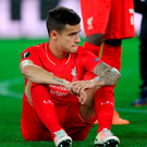 Liverpool's Philippe Coutinho looks dejected during the UEFA Europa League Final at St. Jakob-Park, Basel, Switzerland. PRESS ASSOCIATION