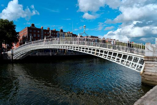 Dublin's iconic Ha'penny Bridge today Photo: Caroline Quinn