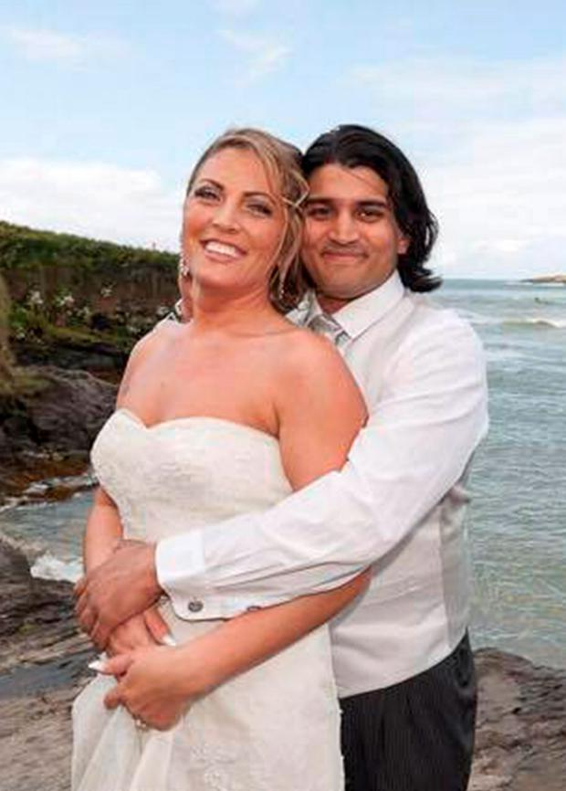 Ausra Matharu from Mogeely, Cork pictured with her husband Bobby