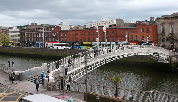 Picture of the Ha'penny Bridge in Dublin Picture credit; Damien Eagers