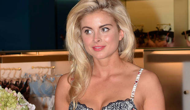 Model Jess Redden launches the new Lingerie Room at Brown Thomas, Dublin, Ireland - 19.05.16. Pictures: Cathal Burke / VIPIRELAND.COM