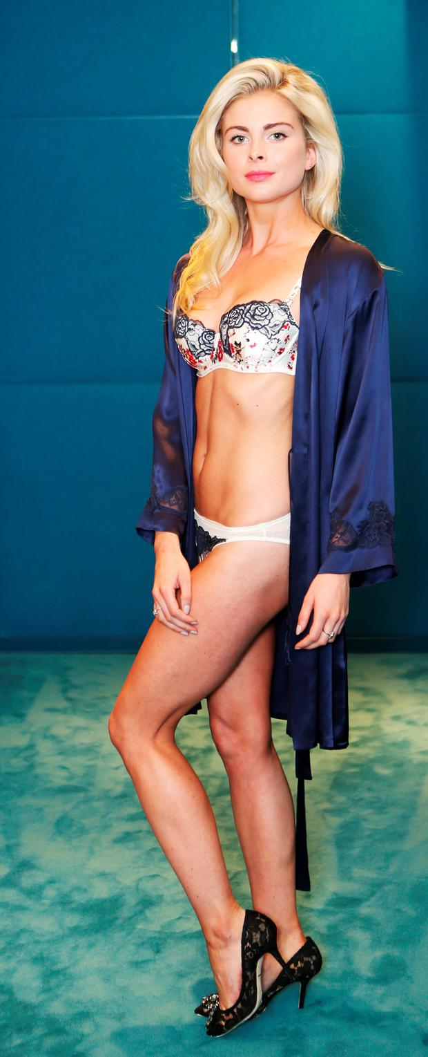 Jess Redden wears Stella McCartney Lingerie 'Ellie Leaping' Balconette Bra, €89.95 and briefs, €44.95 at Brown Thomas