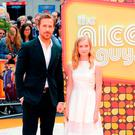 LONDON, ENGLAND - MAY 19: Ryan Gosling and Angourie Rice attend the 'The Nice Guys' UK Premiere at Odeon Leicester Square on May 19, 2016 in London, England. (Photo by Eamonn M. McCormack/Getty Images)