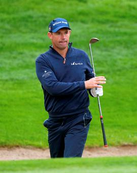 Padraig Harrington playing at the Irish Open yesterday. Photo: PA