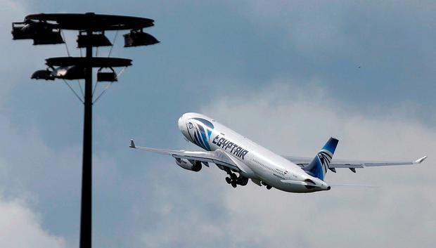 An EgyptAir jet takes off from Charles de Gaulle airport. Photo: Reuters