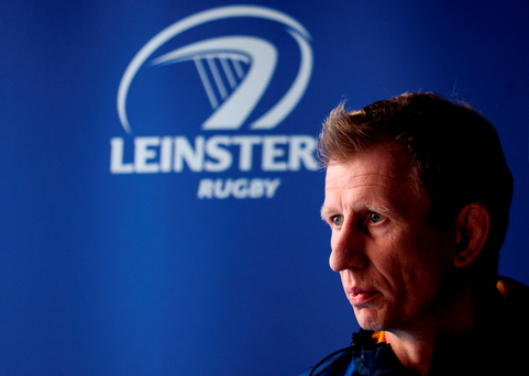 Leinster head coach Leo Cullen during a press conference at the RDS Arena Photo by Sam Barnes/Sportsfile